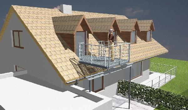 balkon bauen. Black Bedroom Furniture Sets. Home Design Ideas